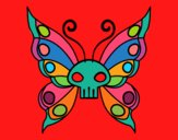 Coloring page Emo butterfly painted bymindella
