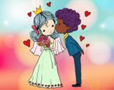 Coloring page Wedding of Prince and Princess painted bybarbie_kil