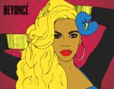 Coloring page Beyoncé painted byCharlotte
