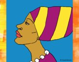 Coloring page Cameroonian woman painted byCharlotte