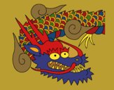 Coloring page Japanese dragon II painted bysuzie
