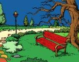 Coloring page Landscape park painted bysuzie