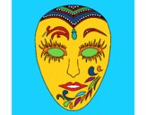 Coloring page Mask painted bymindella