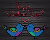 Coloring page The Valentines Day painted byCharlotte