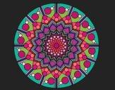 Mandala flower with circles
