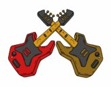 Coloring page Electric Guitars painted bykristi