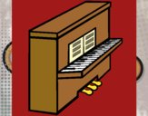 Coloring page Piano painted bySearlait