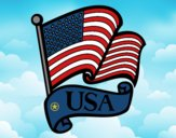 Coloring page U.S. Flag painted byCharlotte