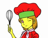 Coloring page Girl-chef painted byGracesGran