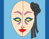 Coloring page Italian mask painted byKArenLee
