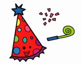 Coloring page Party hat painted byCaryAnn