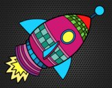 Coloring page Space Rocket painted byCaryAnn
