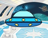 Coloring page UFO alien painted byCaryAnn