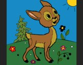 Coloring page Fawn painted byKArenLee