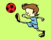 Coloring page Kicking player painted byraggi