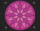 Coloring page Mandala 28 painted byCrazyDevil