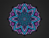 Coloring page Mandala simple symmetry  painted byCrazyDevil