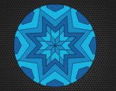 Coloring page Mandala star mosaic painted byCrazyDevil