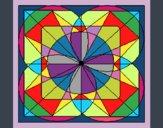 Coloring page Mandala V painted byKArenLee