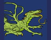 Coloring page Reptile dragon painted byKArenLee