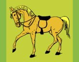 Coloring page Show horse painted byKArenLee