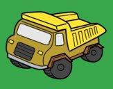 Coloring page Dump truck painted byKArenLee