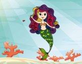 Mermaid with curls