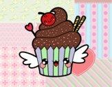 Coloring page The Cupcake kawaii painted bybarbie_kil