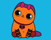 Coloring page Emo kitten painted bymindella