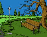 Coloring page Landscape park painted byLexi