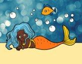 Coloring page Beautiful Mermaid painted bybarbie_kil