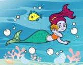 Coloring page Magical mermaid painted bybarbie_kil
