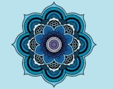 Coloring page Mandala oriental flower painted byShannonA
