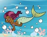 Coloring page Sea Mermaid painted bybarbie_kil