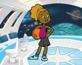 A female basketball player