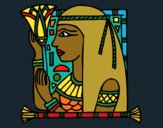 Coloring page Cleopatra painted byCharlotte