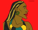 Coloring page Mozambican painted byCharlotte