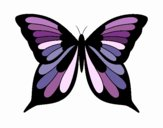 Coloring page Butterfly 19 painted byBell