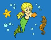 Coloring page Lovely mermaid painted byMGapsis
