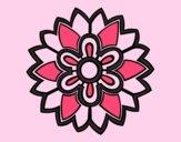 Flower Mandala shaped weiss