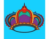 Coloring page Royal crown painted bymindella