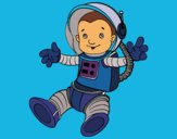 Coloring page An astronaut in space painted bymindella