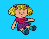 Coloring page Doll Toy painted bymindella