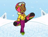 Coloring page Snowboard girl painted bybarbie_kil