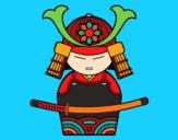 Coloring page Chinese Samurai painted bymindella