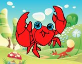 A velvet crab