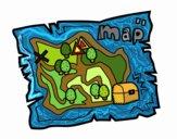 Coloring page Treasure map painted bycdhumphrey