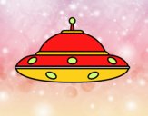 Coloring page UFO alien painted byMimo