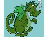 Coloring page  Smokey dragon painted byChristy