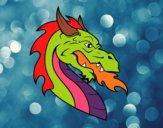 European dragon head